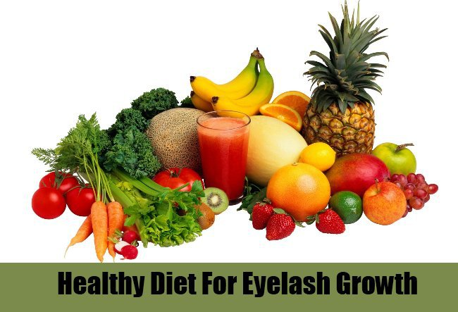 healthy diet for long eyelashes