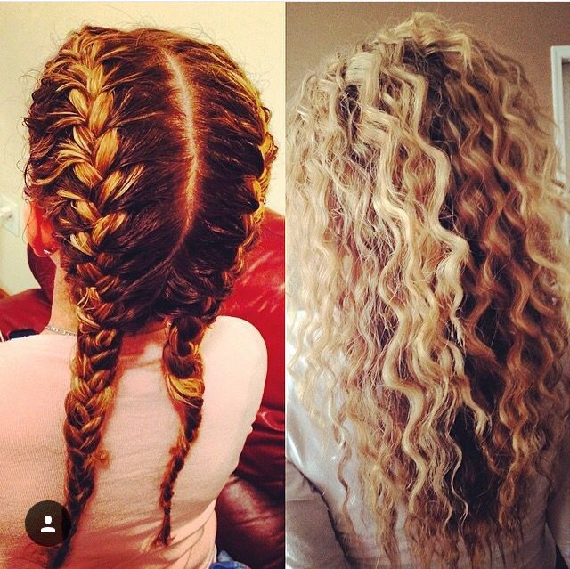 how to make your hair curly overnight with braids
