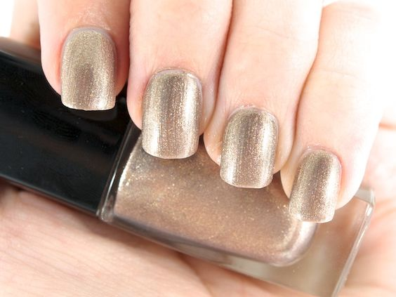 golden chrome nail polish