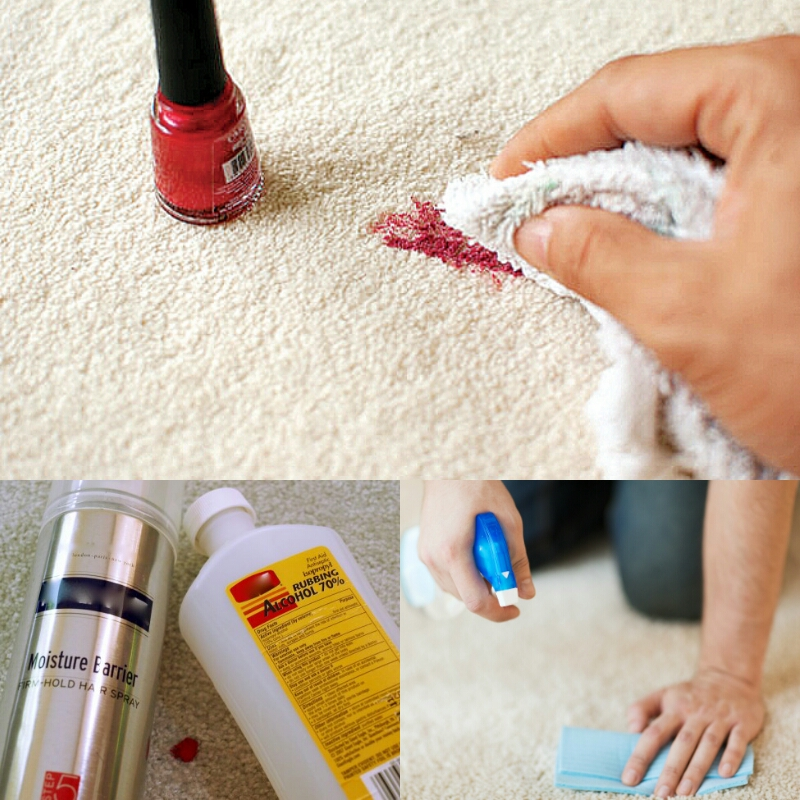how to remove nail polish from carpet with alcohol