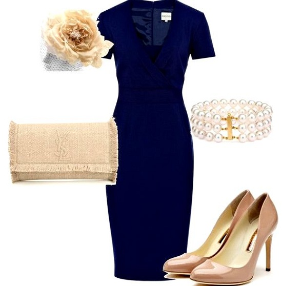 what Shoes to Wear with Navy Dress