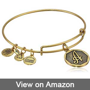 Alex and Ani Initial Expandable Wire Bangle Bracelet